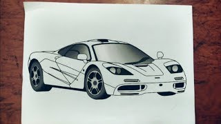 #17 How to draw Hyper car   Mclaren F1  Step by step easily 😊