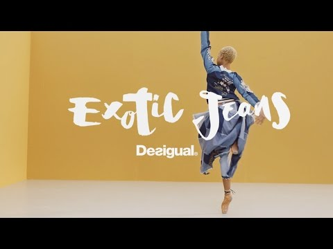 #Hiplet ballerinas present Desigual Exotic Jeans SS17