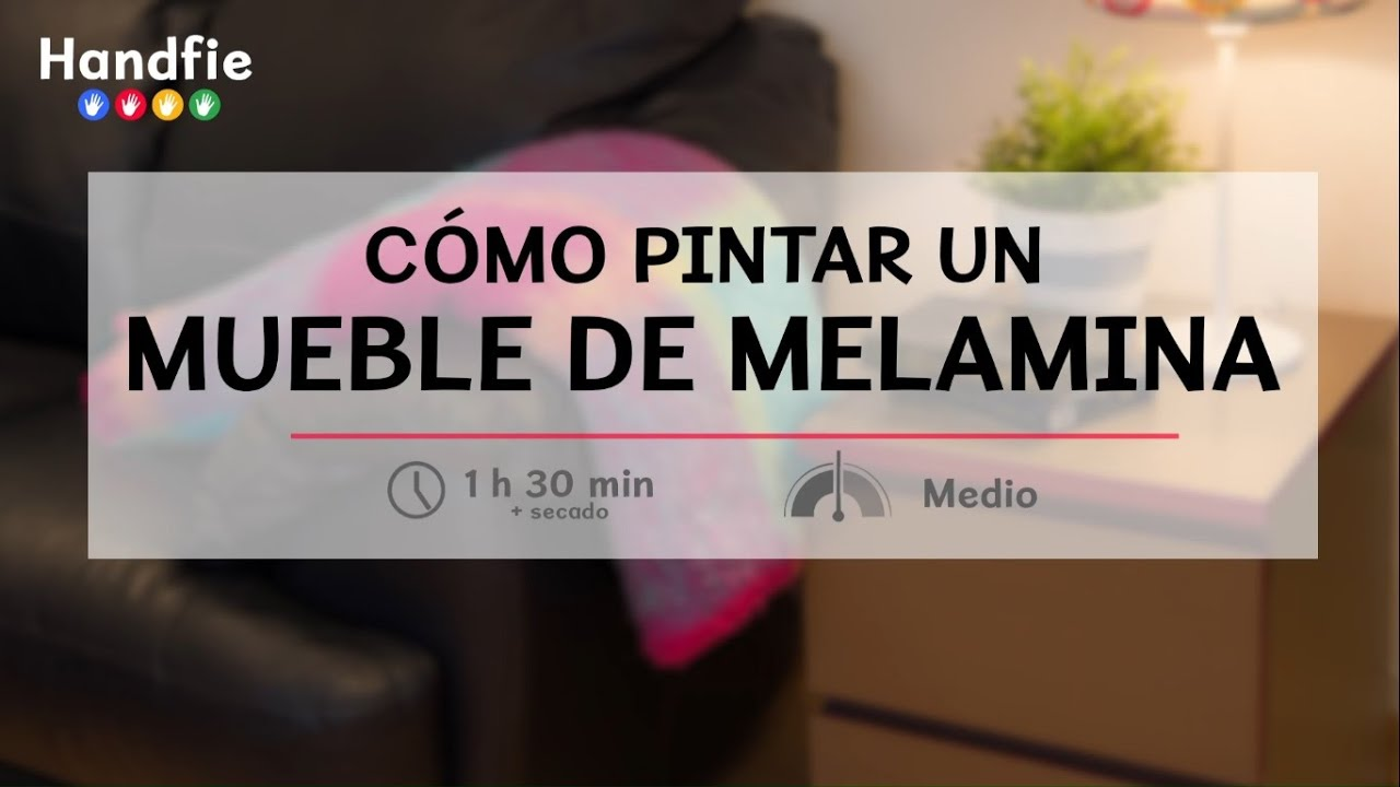 C mo pintar un mueble de melamina handfie diy youtube for Pintar muebles lacados en blanco