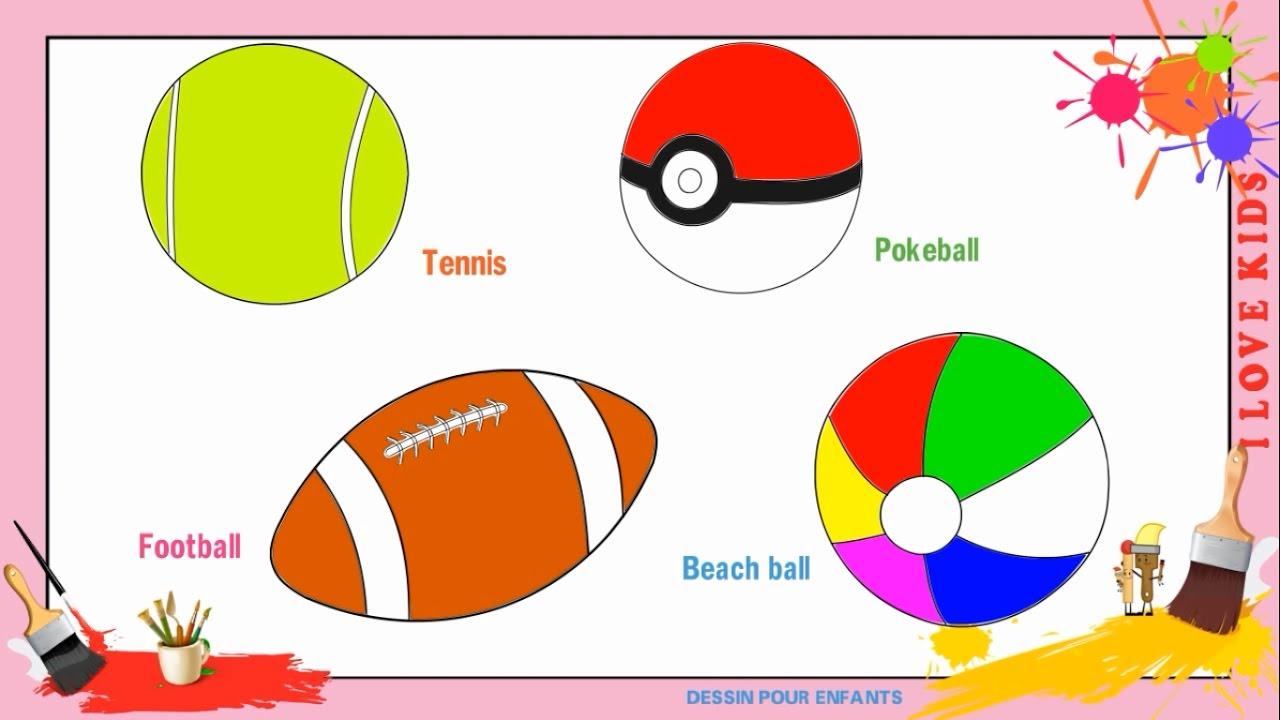 Dessin ballon de rugby tenis pokeball comment dessiner - Dessin ballon foot ...