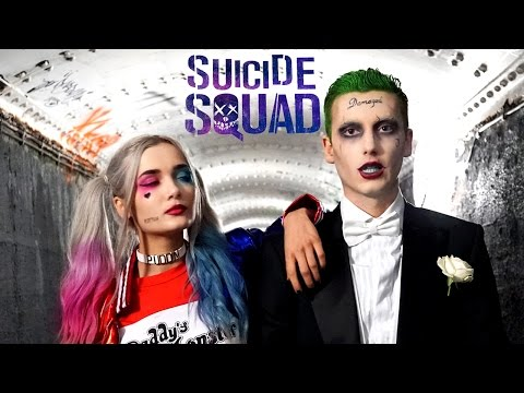 The Joker SUICIDE SQUAD Makeup Tutorial ft. Harley Quinn