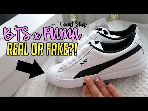 Unboxing BTS x PUMA Court Star Shoes! Are they FAKE or REAL ...