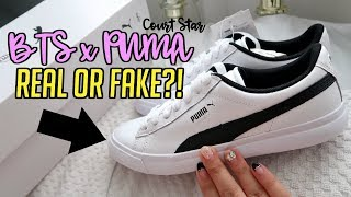Unboxing BTS x PUMA Court Star Shoes! Are they FAKE or REAL?!