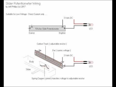 slide potentiometer wiring youtube rh youtube com linear potentiometer connection linear potentiometer circuit diagram