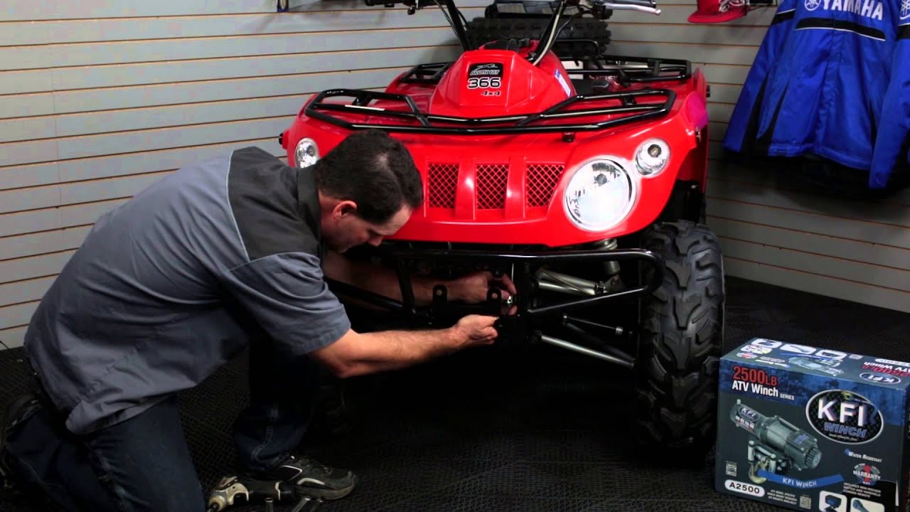 maxresdefault how to install kfi winch and winch mount gearup2go com youtube Kodiak 400 Service Manual at gsmx.co