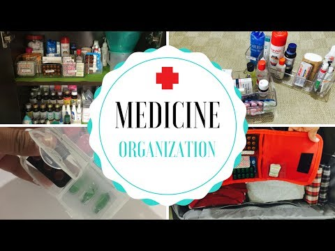 How To Organize Medicines & Medicine Cabinet at Home