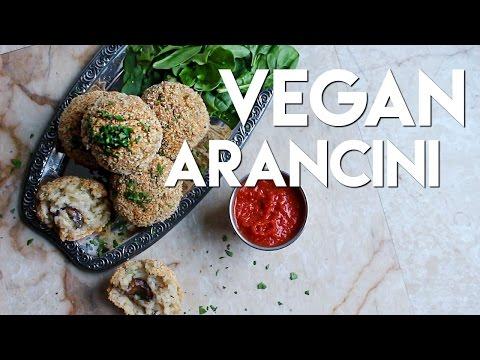 Vegan Arancini (BAKED NOT FRIED) // MoreSaltPlease