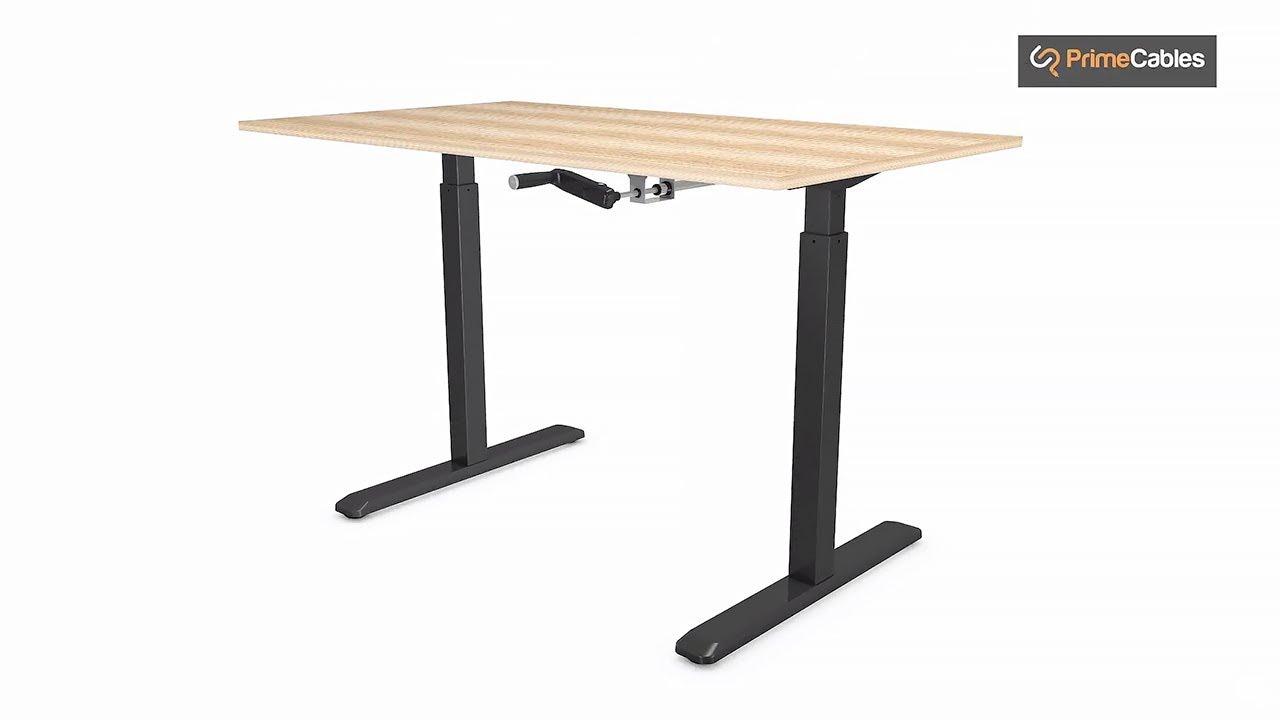 Manual Crank height Adjustable Sit-Stand Desk Frame - PrimeCables®