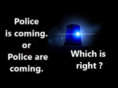 Police -  Singular Or Plural Noun