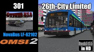 Cayuga USA Route 301 with NovaBus LFSA HEV - OMSI 2 by Dash5155