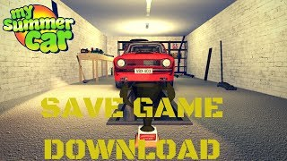 Save Game Download - Full Tuning, All Unlocked, Gold Trophy, Cabin, Ruscko - My Summer Car #46