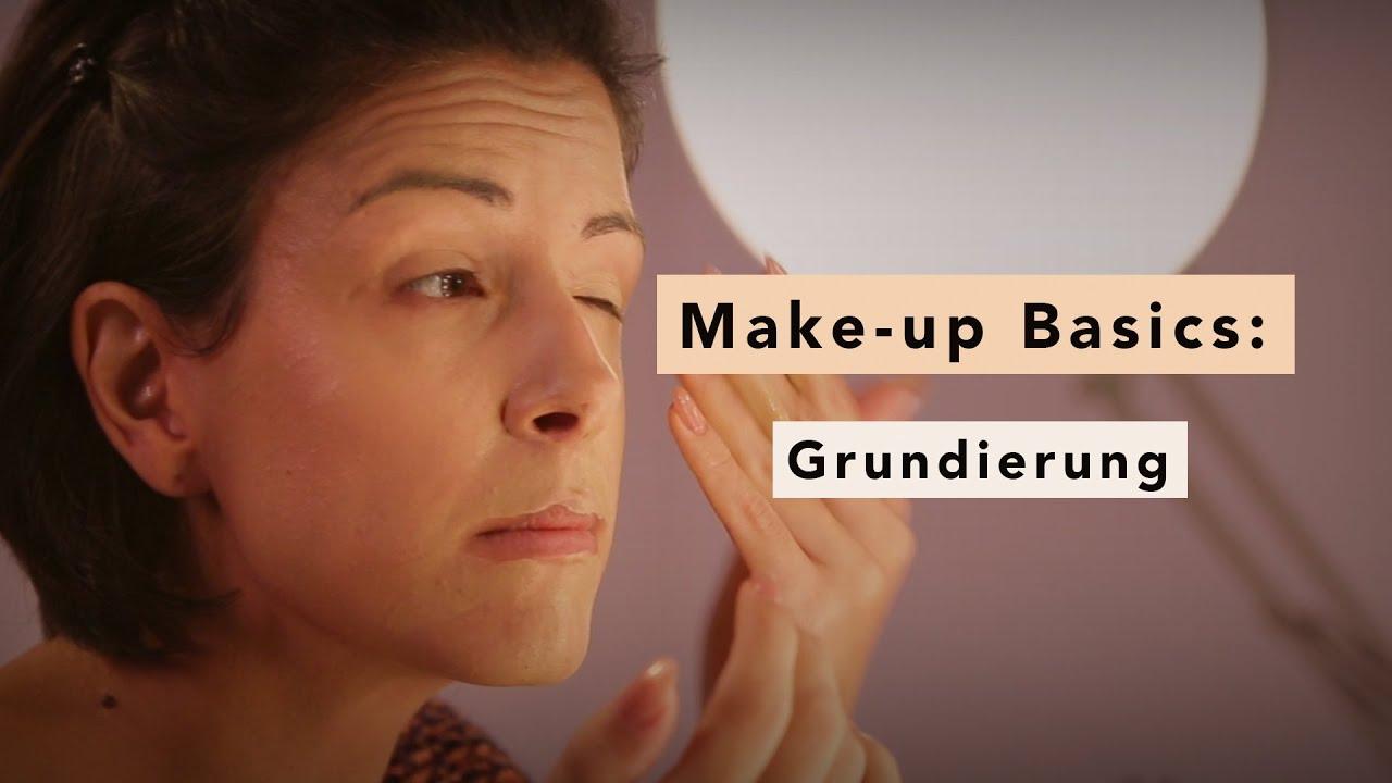 grundierung auftragen make up basics youtube