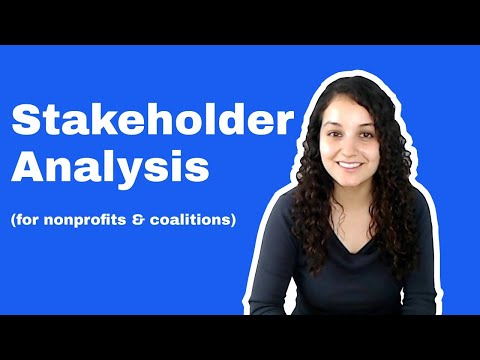 Stakeholder Analysis Tool (for Nonprofits)