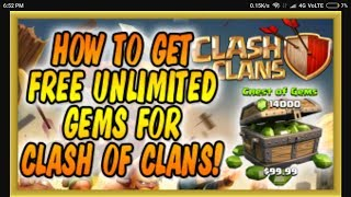 How to get unlimited gems and elixir in Clash of Clans c o c