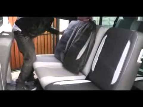 Vw Transporter T5 Leatherette Car Seat Covers Fitting Video.