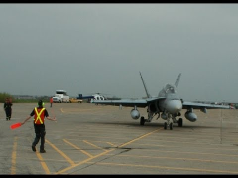 F18 getting ready for take off at Wings and Wheels 2011, Downsview Ontario