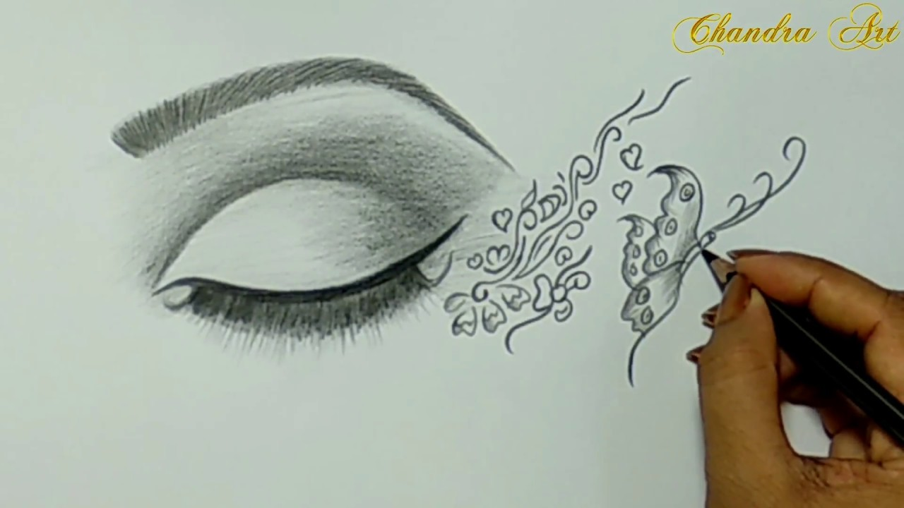 Cool easy drawing pencil drawing a beautiful eye
