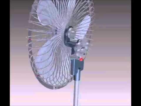 Fan design with manual spin inverter (Inventor)