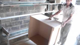 como lixar peças grande feitas em mdf ou madeira
