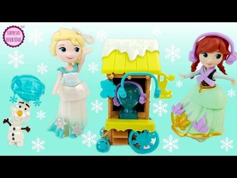 Frozen Elsa Anna y Olaf Patinaje sobre hielo - Historia con muñecas Stop Motion Maletín de juguete - 동영상