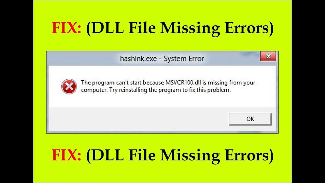 How to fix all Missing DLL file errors in windows 7, 8, 10 | Easily
