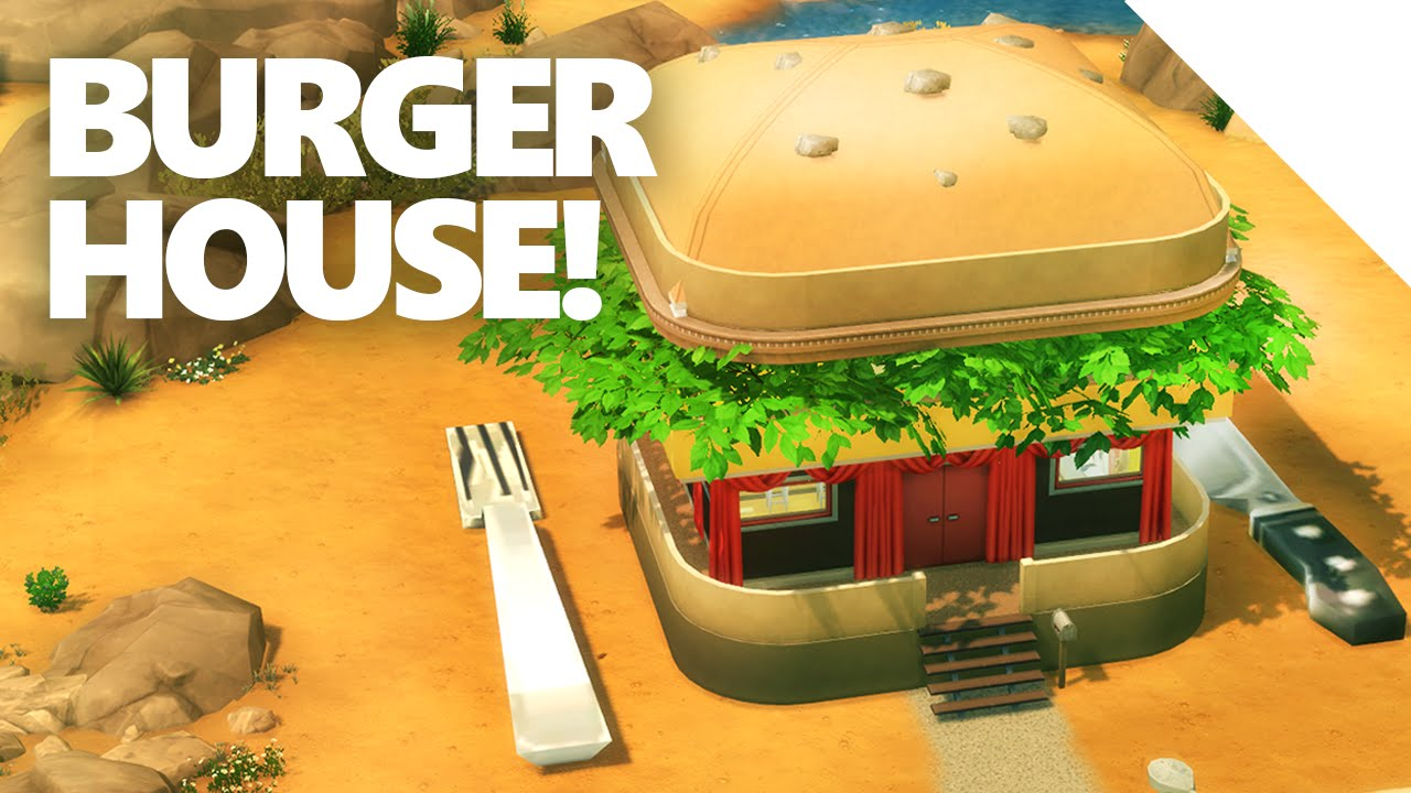 The Sims 4 Burger House Build Youtube