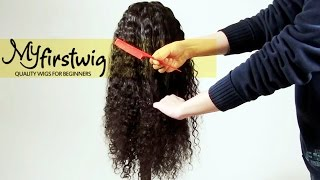 Wig Care 101: How to detangle your curly wig | Myfirstwig.com
