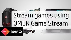 How to Stream Games using OMEN Game Stream | HP Computers | HP