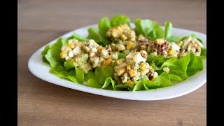 Полезный салат с авокадо и яйцом рецепт