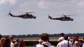 Авиашоу под Харьковом. Ми-8, Ми-24, Су-27