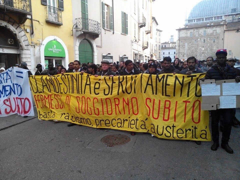 Presidio davanti alla Questura di Brescia 20 aprile 2015 per ...