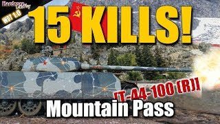 15 kills in WORLD OF TANKS! Т-44-100 (R) easy WOT!