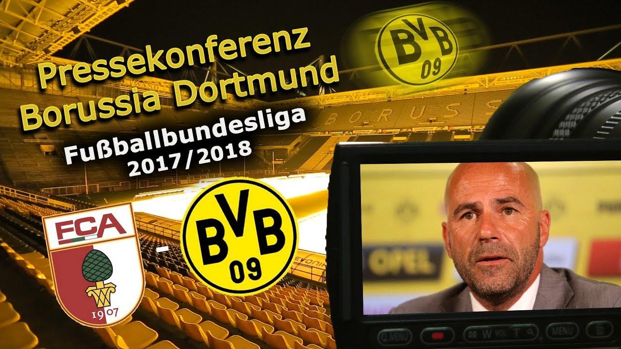 FC Augsburg - Borussia Dortmund: Pk mit Peter Bosz