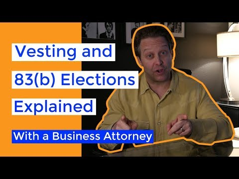 83(b) Elections and Founder Equity Vesting Demystified | A Startup Lawyer Explains