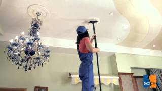 видео Как и чем можно мыть глянцевые и тканевые натяжные потолки