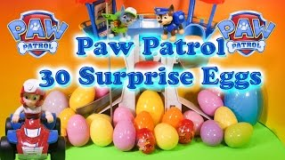Opening 30 Funny Surprise Eggs and Paw Patrol Toys thumbnail