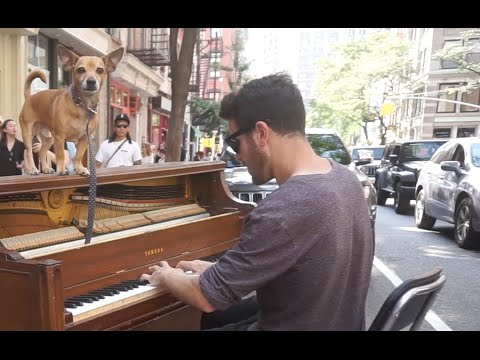 G minor Piano Improvisation on a Street Piano in NYC by Dotan Negrin