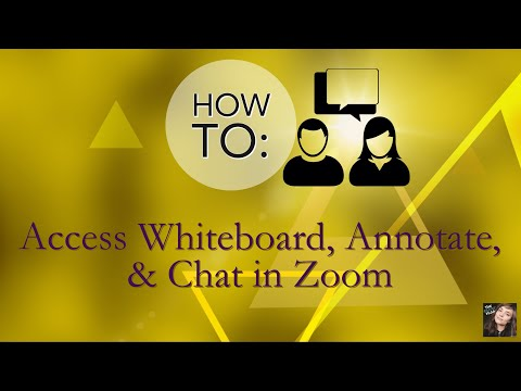 How To Turn On Whiteboard, Annotate, & Chat In Zoom: Collaboration Teaching & Business Tutorial