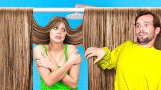 LONG HAIR VS SHORT HAIR STRUGGLES    Funny Girly Struggles By A PLUS SCHOOL