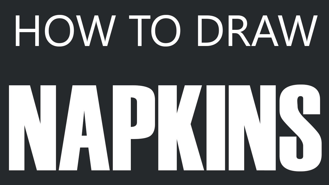 How To Draw A Napkin Cloth Napkin Drawing Restaurant