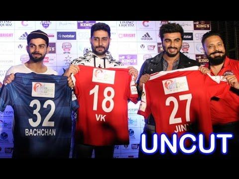 Celebrity Clasico 2016 Jersey Launch   Virat Kohli, Abhishek Bachchan, Arjun Kapoor