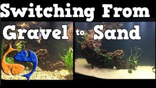 Switching Your Aquarium Substrate From Gravel To Sand! 125 Gallon Aquarium Overhaul!