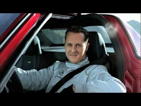 Michael Schumacher in the SLS AMG tunnel experiment (long-version)   Ridgeway Mercedes-Benz