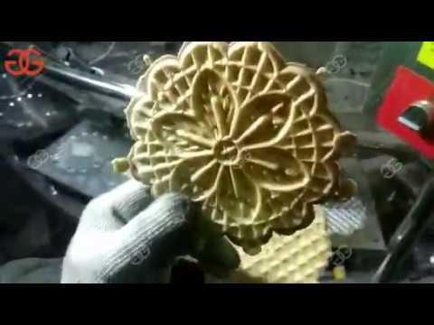Video of Pizzelle Machine|Waffle Cookie Baking Machine|kuih kapit Machine
