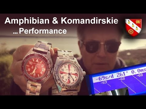 Vostok Amphibian And Komandirskie - Performance And Shock Protection In The 24xx Series Movement