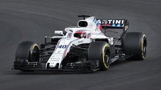 Robert Kubica Driving the Williams FW41 during the F1 2018 Testing