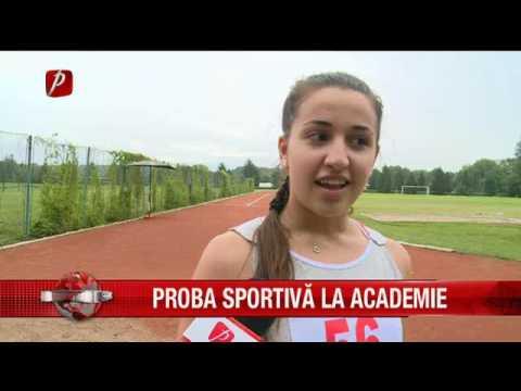 Proba sportivă la Academie