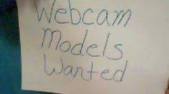 Male and Female Webcam Models Wanted