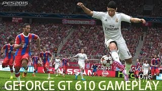 PES 2015 Real Madrid vs. Barcelona gameplay on Geforce GT 610