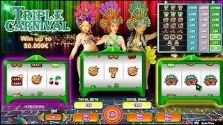Triple Carnival: 3 machine à sous en 1 jeu ♠️♥️♦️♣️ Une Partie Tres Risquée !!!